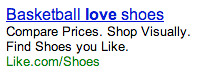 Previous Searches in Google AdWords