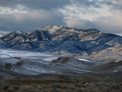 Pine Nut Mountains (Stones 55) Tags: mountain snow mountains nevada fortchurchill nationalhistoriclandmark nationalregisterofhistoricplaces lyoncounty pinenutmountains nevadastateregister fortchurchillstatehistoricpark