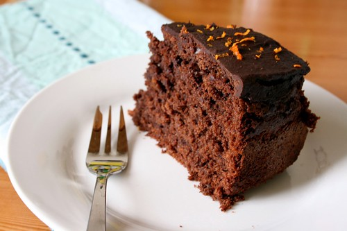 Dark chocolate and orange cake 2