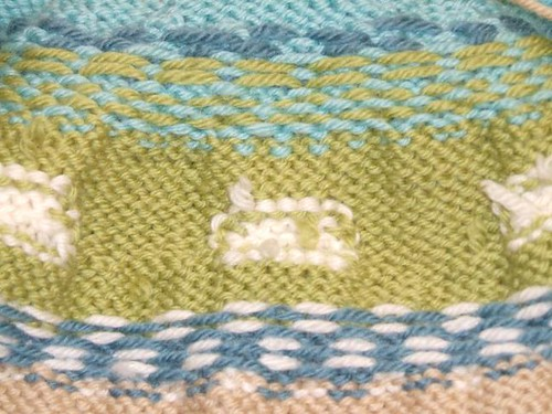 Sheep Yoke Baby Cardigan # 2 detail