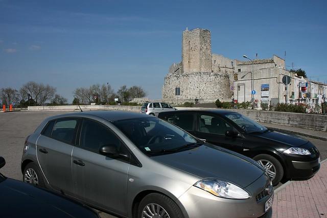 car park and castle