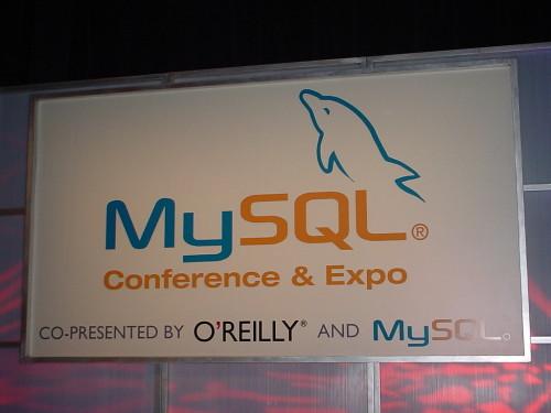 MySQL Banner; Keynote stage