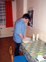 Making the halušky/nokedli