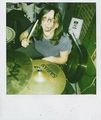 3daycheeky3 (hernameisali) Tags: show camera film girl polaroid newjersey concert punk weekend band cheeky newbrunswick indie scanned drummer sabian cymbal discontinued 3dayweekend threedayweekend angieboylan