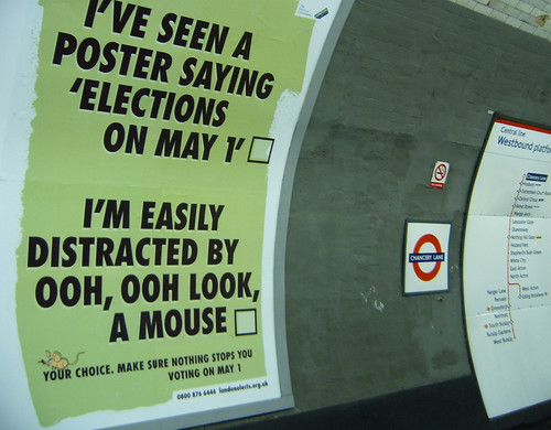 London Mayoral Election Ads at Chancery Lane