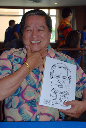 Caricature live sketching Temasek Fun Day 7