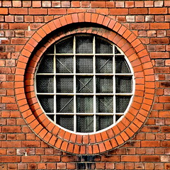 square circle (Harry Halibut) Tags: shadow red brick english window sunshine metal circle square mesh sheffield images bond brickwork allrightsreserved zinc galvanised linescurves anglesanglesangles circlescirclescircles rotrossorougerood sheff071012176a imagesofsheffield redsheff andrewpettigrew