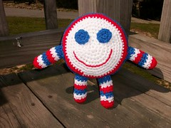 Patriotic Smiley Face Doll
