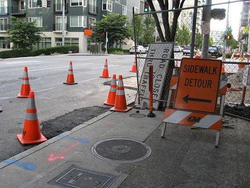 Sidewalk Detour (not closure)
