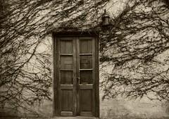 ENRAMADA (kchocachorro) Tags: bnw blackandwithe sepia old door