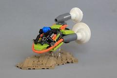 Titanium Thunder (soccersnyderi) Tags: lego moc creation speeder bike custom power miners craft landscape vastland cross rollcage