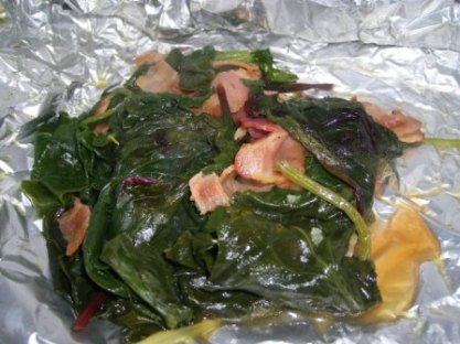 Grill Braised Greens