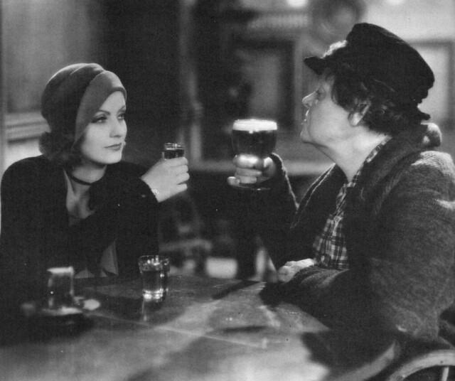 Greta Garbo and Marie Dressler