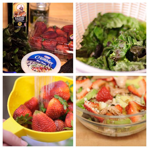 Strawberry Avocado Salad with Chicken