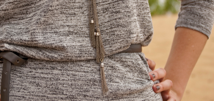 maxi skirt with sweater marled purple gray dash dot dotty style blog awesome
