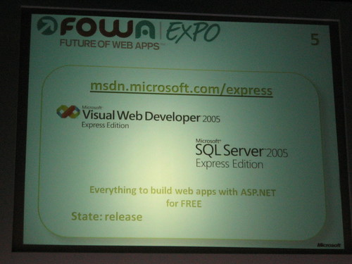 Visual Web Developers Express