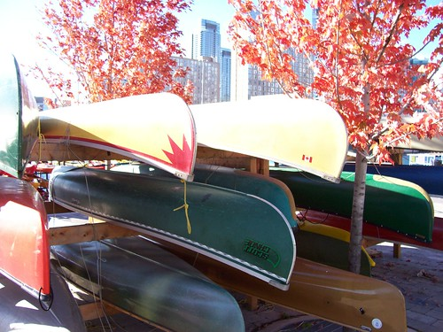 Storing the canoes, Harbourfront