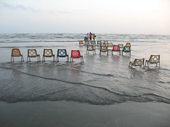 Show Time (Raja Islam) Tags: pakistan sea beach colors chair view seat karachi clifton