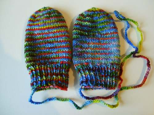 Knitted Baby Mittens Simple Pattern : Malin Knits: Baby mittens