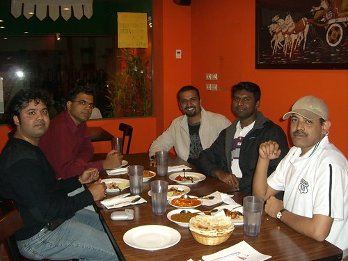 Dinner at Indian Cuisine Restaurant