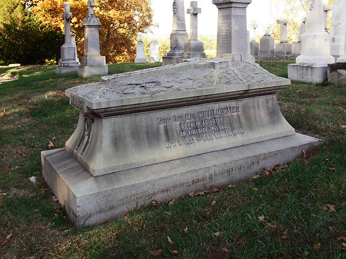 Calvary Roman Catholic Cemetery, in Saint Louis, Missouri, USA - msgr walsh tomb.jpg