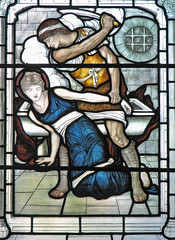 Martyrdom of St Cecilia (Lawrence OP) Tags: windows christchurch cathedral oxford burnejones stcecilia