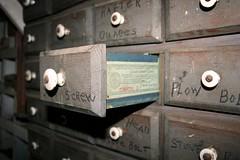Screw (Depression Press) Tags: wood screw box nuts cigar tools drawer bolt plow washers tobacco