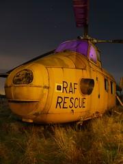 rescue (th3g) Tags: longexposure nightphotography lightpainting abandoned plane decay explore helicopter urbanexploration westland ue urbex planegraveyard