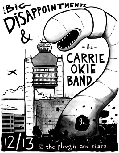 carrie okie band poster