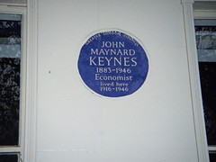 Photo of John Maynard Keynes blue plaque