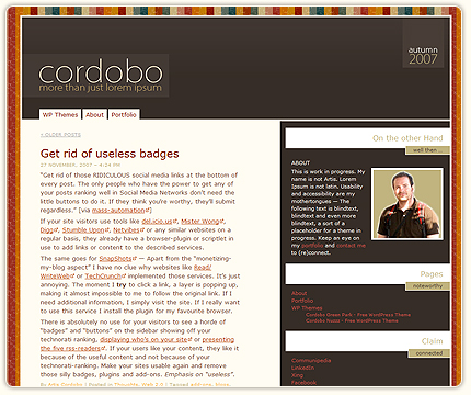 Cordobo Paperwall WordPress Theme