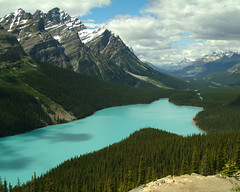 Peyto Lake (TRTAYLOR) Tags: lake snow water landscapes turquoise moutains banffnationalpark peyto