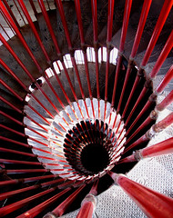 Inside the tower (Rich007) Tags: red tower castle stairs spiral climb europe stair walk medieval stairway slovenia staircase walkway balkans legacy easterneurope spiralstaircase llubljana centraleurope spiralstairway absolutearchitecture impressionsexpressions goldstaraward llubljanacastle platinumpeaceaward flickrvault