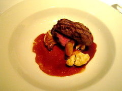 Grilled Sendai Sirloin with Salsify, Palm Hearts and Cauliflower