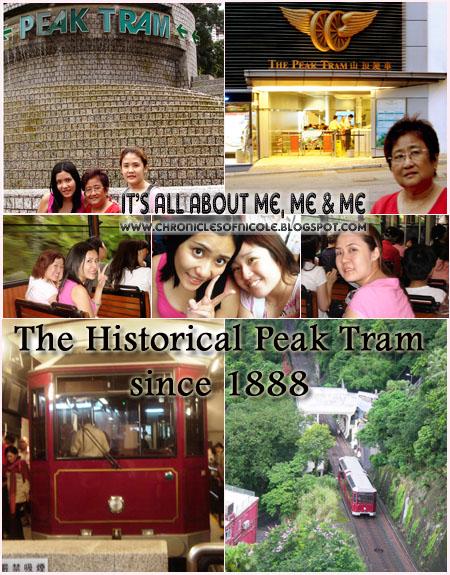 tram ride up victoria peak