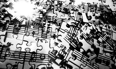 Broken Crescendo (godzillante|photochopper) Tags: bw music broken bn puzzle staff jigsaw crescendo sheetmusic mozart biancoenero pentagramma musicstaff