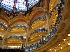 Galeries Lafayette, Paris (Uncle Buddha) Tags: trip travel vacation holiday paris france tourism fashion architecture shopping store frankreich europe galeries lafayette balcony dome francia parigi