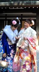 A Good Laugh (melanie gray augustin (Kimono Reincarnate)) Tags: japan kimono comingofageday seijinnohi
