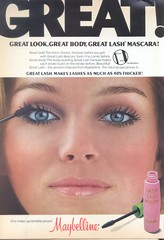Maybelline Great Lash (twitchery) Tags: vintage ads eyelashes makeup mascara vintageads vintagebeauty