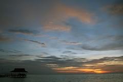 Sonnenuntergang auf Pulau Tiga