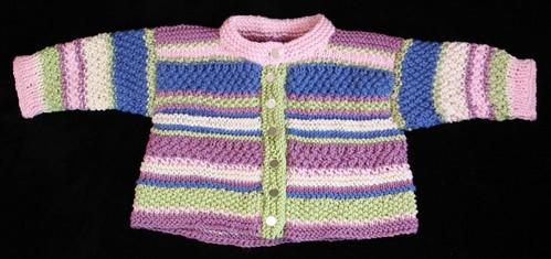 Stripe Bamboo Baby Sweater 6mo