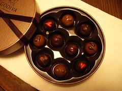6種類のチョコレートムース