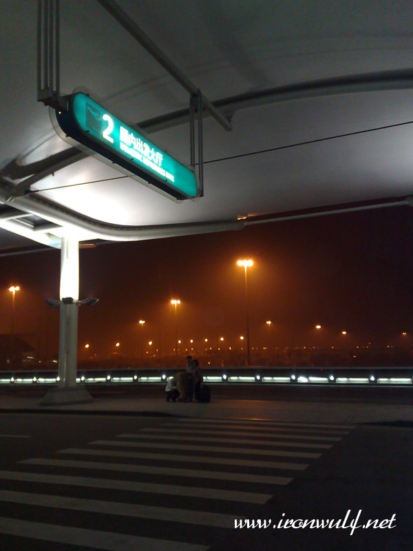 Morning smog at the airport