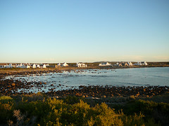 Fisherman's Cottages (Web Design Cape Town) Tags: sea plants seaweed nature clouds landscape southafrica rocks village capetown vegetation coastline westcoast jacobsbaai rockyoutcrops waterbluesky fishermanscottages limewashedhouses