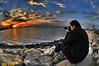شاطي الشويخ (N-S-S) Tags: sunset sea nikon kuwait غروب 105mm الكويت غيوم الشويخ بحر ناصر d2xs شاطي الصليهم