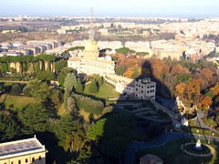 Shadow of St. Peter's Dome (wenzday01) Tags: travel shadow vatican stpeters canon europe basilica vaticano sanpietro stpetersbasilica basilicadisanpietro cittdelvaticano canonsd450 sd450 vaticanycity