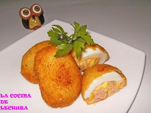 Huevos rebozados-plato