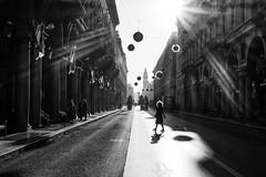 Hair (Enrico Ferrini) Tags: street light sun sunlight ray hair turin torino italy urban city architecture shadows shades walk girl contrast blackandwhite bw viaroma piemonte piedmont