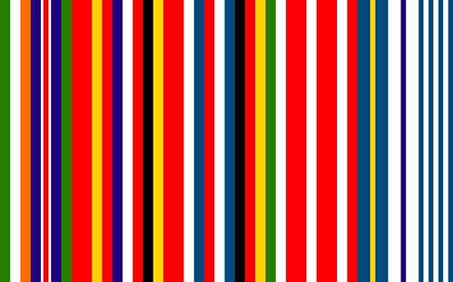 Captura de la bandera de la Unión Europea compuesta por otras banderas creada por Rem Koolhaas