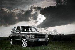 Range Rover - Third view over the country (Amaury AML) Tags: auto lighting street light sunset sun art cars car speed photo automobile shoot photoshoot 4x4 flash country wheels engine automotive rover scene voiture land bmw suv rue range luxury supercar v8 luxe exotics supercars amaury aml voque